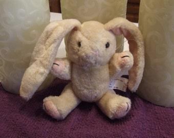 Miniature Bunny, Long Eared Bunny, Rabbit, Vintage Bunny, Posable Bunny, Movable Arms and legs, Nursery Decor, Vintage Collectible, Plush