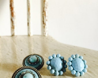 For the Turquoise Lover - Lot of 2 Pairs of Earrings - CoStUmE jEwElRy