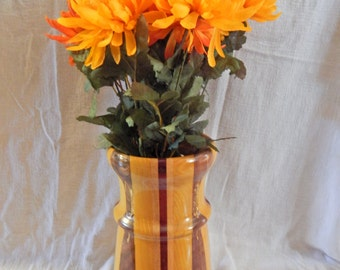 Large Hand Turned Wooden Vase