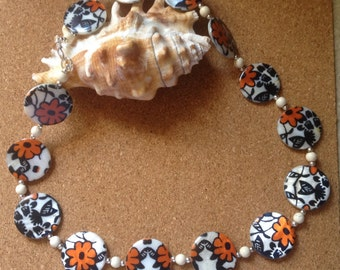 Summer Shell flower beaded necklace
