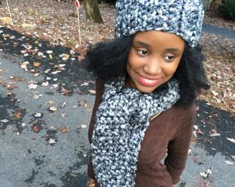 Crochet Hat & Scarf Winter Set