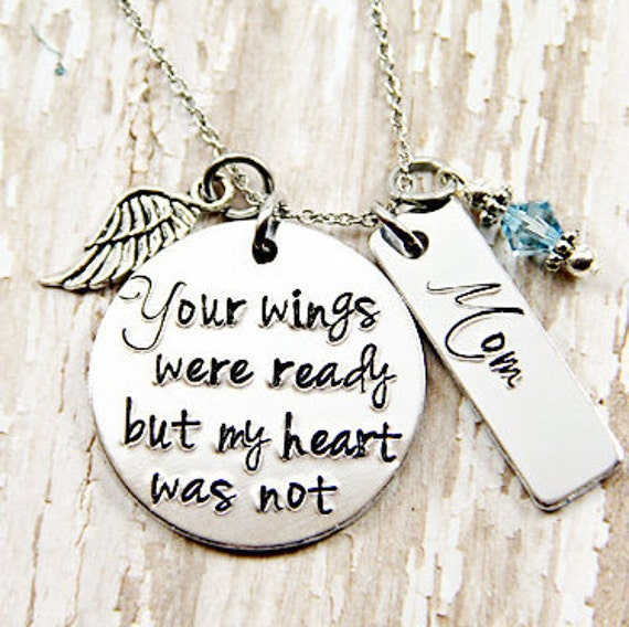 Your Wings Were Ready But My Heart Was Not Name Necklace