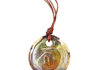 Murano Glass Round Pendant from Mystery of Venice 'Eternity'