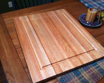 "Huge Cherry Butcher cutting board.  24""x36""  1 1/4"" thick with Juice Groove.  Perfect Christmas gift for the chef in your family."