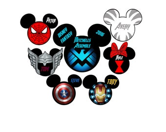Personalized Avengers Family Cruise Magnet