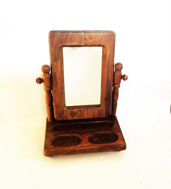 Shaving mirror gentleman 39 s tabletop bureau shaving mirror for Bureau with mirror