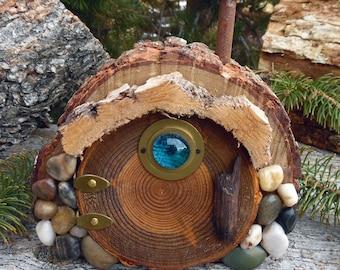 Knollwood Forest Gnome Door ~ Hobbit Fairy Elf Faerie ~ Wooden Garden Door ~ Tolkien ~ Woodland Forest Gnome ~ Miniature Gardening