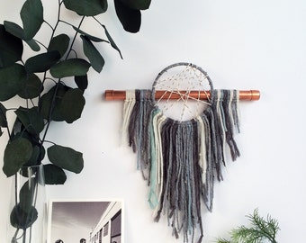Unique Christmas Gift, Gender Neutral Nursery, Modern Boho Home, Dream Catcher Wall Hanging, Boho Gift for the Home, Gray and Mint Nursery