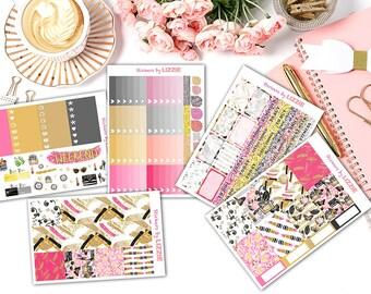 Paris Dream Kiss-cut weekly kits planner stickers || Erin Condren planner vertical layout
