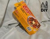 DIY Stranger Things inspired Eggo Waffles box DIY - download, print, cut & glue