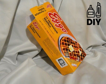 DIY Stranger Things inspired Eggo Waffles box DIY - download, print, cut & glue