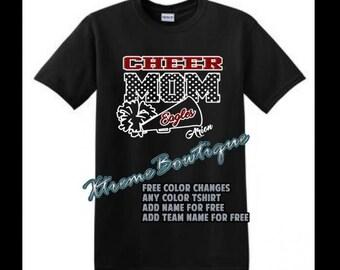 Personalized Cheer Mom Shirt, Cheer Mom TShirt, Custom Cheer Mom Shirt, Cheer Mom Shirt, Cheer Mom TankFree Changes, Fast Shipping