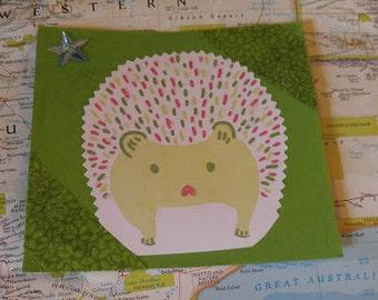 Large Handmade Hedgehog Magnet