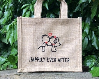 Happily Ever After - Jute Gift Bag