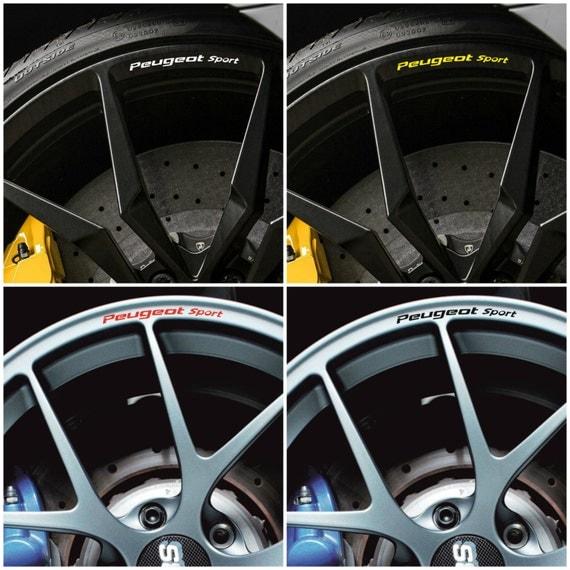 X8 Peugeot Sport Jantes Alliage Roue Autocollants Stickers