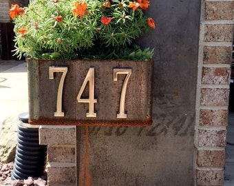 Address Sign with Planter