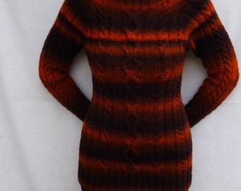 Womens sweater Knit sweater Raglan knit sweater Wool sweater Womens clothing Womens pullover