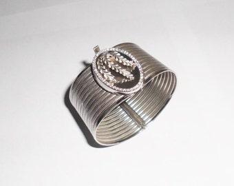 Wide bracelet 925 silver bracelet silver Crystal stones SA223