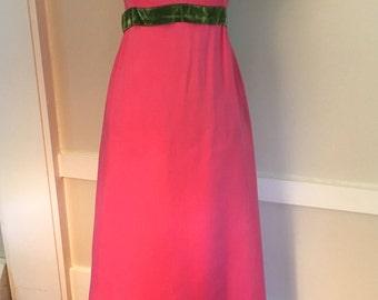 Vintage 60's Priscilla of Boston Bridesmaid Dress, Vintage Prom Dress, Vintage Formal Party Dress, Pink Party Dress