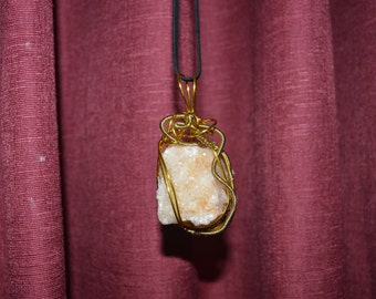 Large Citrine Cluster Wire Wrap