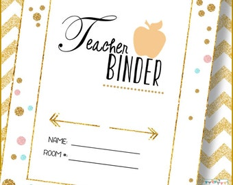 Teacher Binder (Editable)