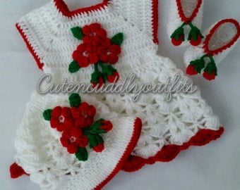 Crochet baby Dress, Baby clothes, Baby dresses, baby headband, baby shoes, Flower Dress, Baby girl clothes, Crochet baby Set, Baby shower