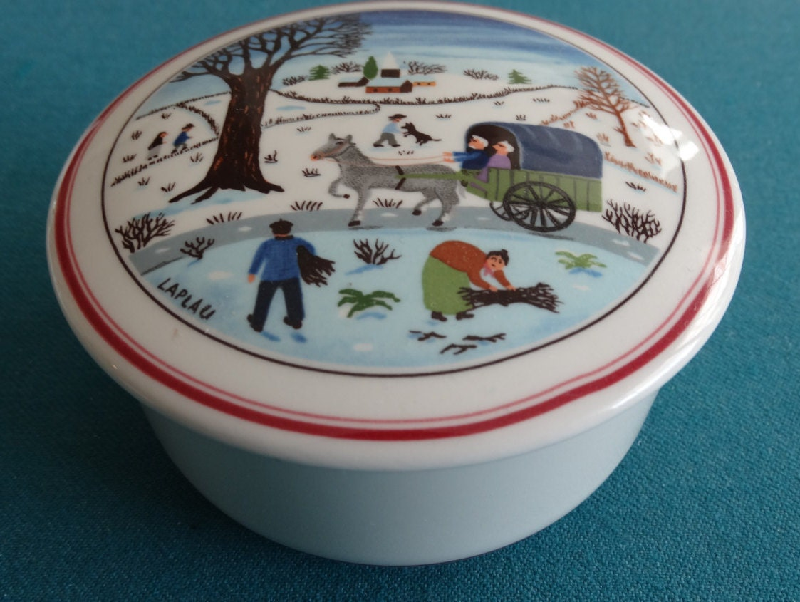 Villeroy boch naif christmas lidded trinket box or candy for Villeroy boch naif