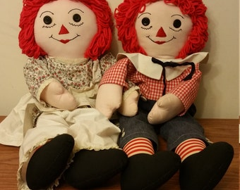 Raggedy Ann and Andy dolls handmade