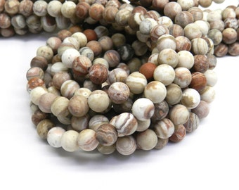 Mexican Crazy Lace Agate, Matte Beads, Crazy Lace Agate Beads, Crazy Lace Agate, Lace Agate, Frosted Beads, Agate Beads 6mm Beads 8mm Beads