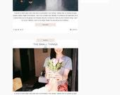 SALE! Responsive Premade Blogger Template // Bits & Pieces!