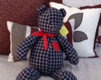 Memory Bears, Comfort Bears, Customizable, made out of any fabric