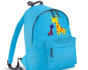 Colourful Giraffes kids backpack