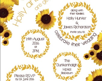 "The ""Sunflower"" Wedding Invitation Collection"