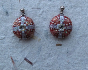 Red Divine Messenger Mermaid Earrings