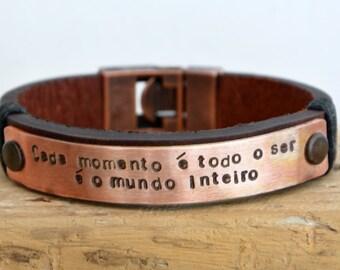FAST SHIPPING, Men's Bracelet, Men Leather Bracelet, Personalize Bracelet, Father Day's Bracelet, Leather Men's Bracelet, For Men Bracelet