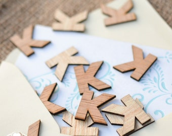"""100 Wood Letter K - 1"""" - Wooden Alphabet Letters - Initials - Monogram Confetti - Wood Letters - Birthday Party Table Decorations"""