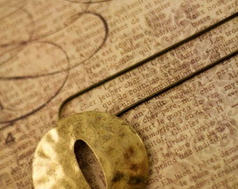 Rustic Shield Necklace