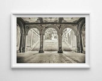 New York City Photography, Central Park Print, Bethesda Terrace, Urban Home Decor, Bethesda Arch, NYC Fine Art, Bathroom Decor, Office Art,