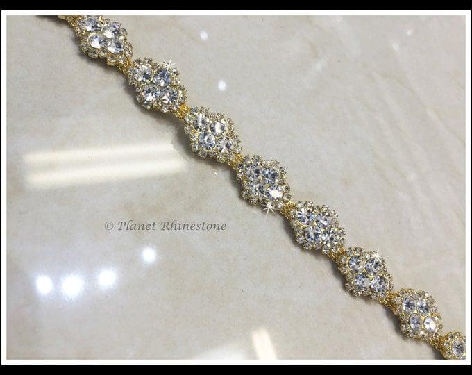 "36"" Rhinestone Trim/Swarovski Shine/ (Silver Gold) #0500"