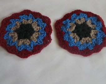 Crocheted circle,coaster, hotpad