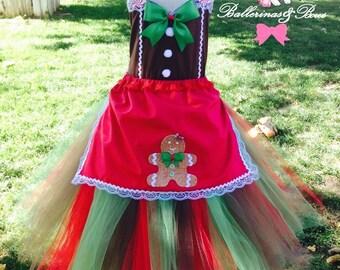 Christmas tutu dress, Perfect gingerbread tutu dress, Christmas tutu, holiday dress, Christmas dress, winter theme