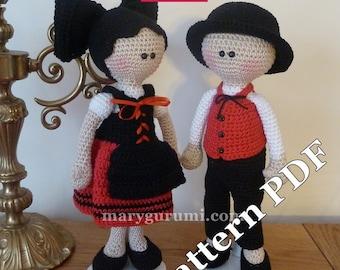Crochet Pattern, pattern, tutorial, Amigurumi doll, a couple of cookies