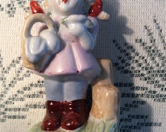 Darling Porcelain Little GIRL FIGURINE -- Vintage China