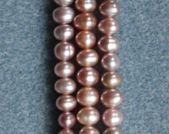 A Grade Natural Freshwater Cultured Potato Pearls 5-5.5mm - Full Strand