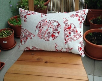 Decorative Throw Pillow, Merry Cristmas, Cushion, Throw Pillow, Couch Bed Pillow