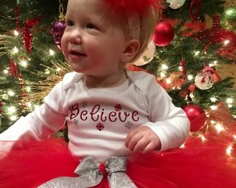 Christmas Outfit, Baby Girl Christmas dress, Baby girl Christmas tutu, Newborn Christmas Outfit, First Christmas Dress, First Christmas tutu