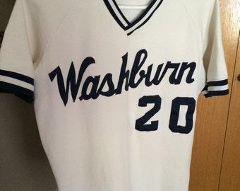 Vintage Baseball Uniform, Size 42, Washburn University
