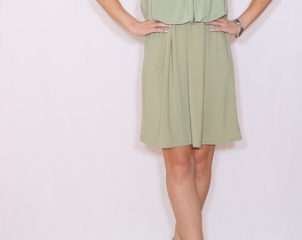 Sage green dress Bridesmaid dress Short dress Party dress