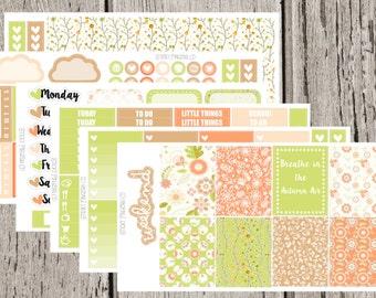 Autumn Morning Weekly Planner Sticker kit for the Erin condren Life Planner