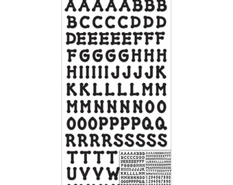 Sticko Alphabet Stickers - Black Dot Small